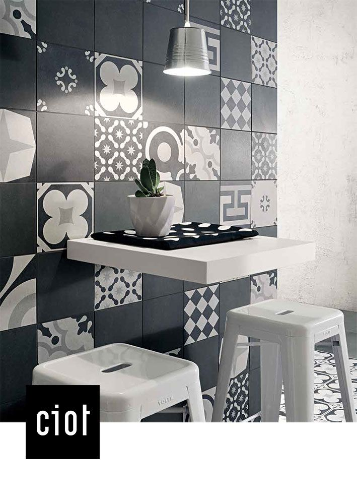 Kitchen Wall Decor Tiles 8 Best Cementine B&w Collection Images On Pinterest  Eclectic