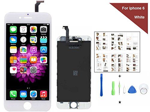 iPhone 6 Screen Replacement For Lcd Touch Screen Digitizer Frame Assembly Set Coolmall369 Free Tool Kit included (White)  https://topcellulardeals.com/product/iphone-6-screen-replacement-for-lcd-touch-screen-digitizer-frame-assembly-set-coolmall369-free-tool-kit-included-white/  1. Coolmall369 iPhone 6 screen repalcement 4.7 inch. Compatible with iphone 6 PLUS screen replacement 2. The LCD is without home button, ear piece, front camera, proximity sensor holder, front camera
