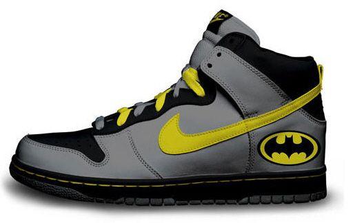 brass monki custom nike hightops batman. Because I need new camping/bush party shoes!.. So funny!!!