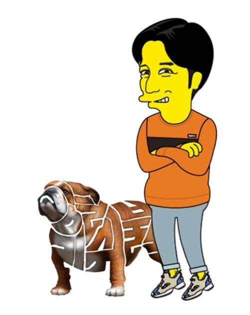 Simpson Style Caricature & Korean Alphabet Typography Project [Englishbulldog&Me] 심슨 스타일 캐리커쳐&글이다_프로젝트 [잉글리쉬불독&나]