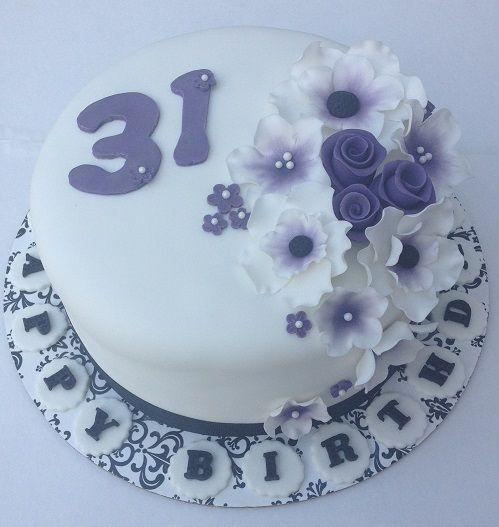 Happy 31st Birthday Fondant Cake