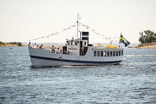 m/s Blekinge Slup Båt Båttrafik Skärgård Sommar Karlskrona Blekinge Sweden