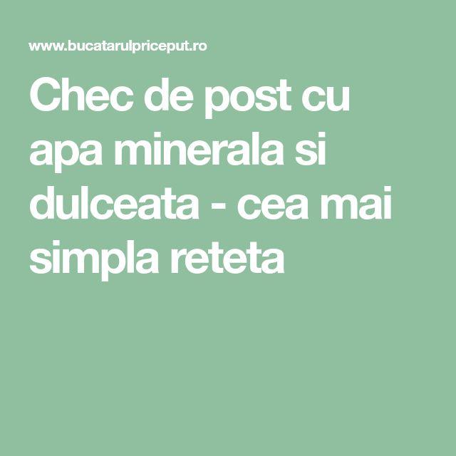 Chec de post cu apa minerala si dulceata - cea mai simpla reteta
