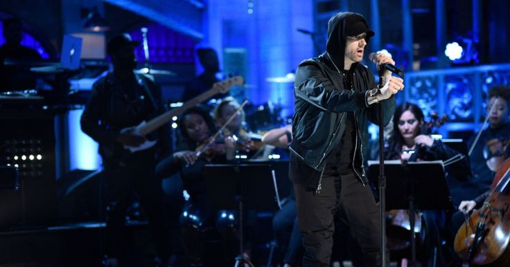 "Eminem delivered a three-song medley during his 'SNL' musical guest spot, performing new single ""Walk on Water,"" ""Stan"" and ""Love the Way You Lie."""