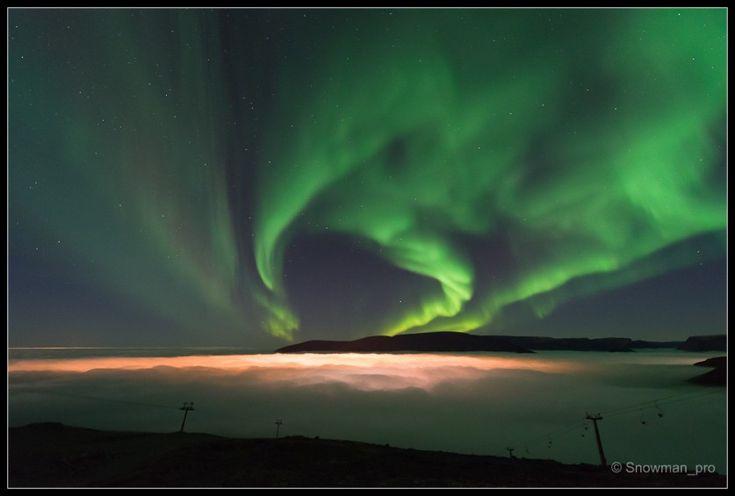 Невероятно красивое природное явление - полярное сияние
