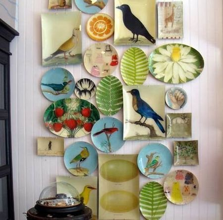 Always wanted to collect leaf plates from an op-shop to make a (less intense) version of this
