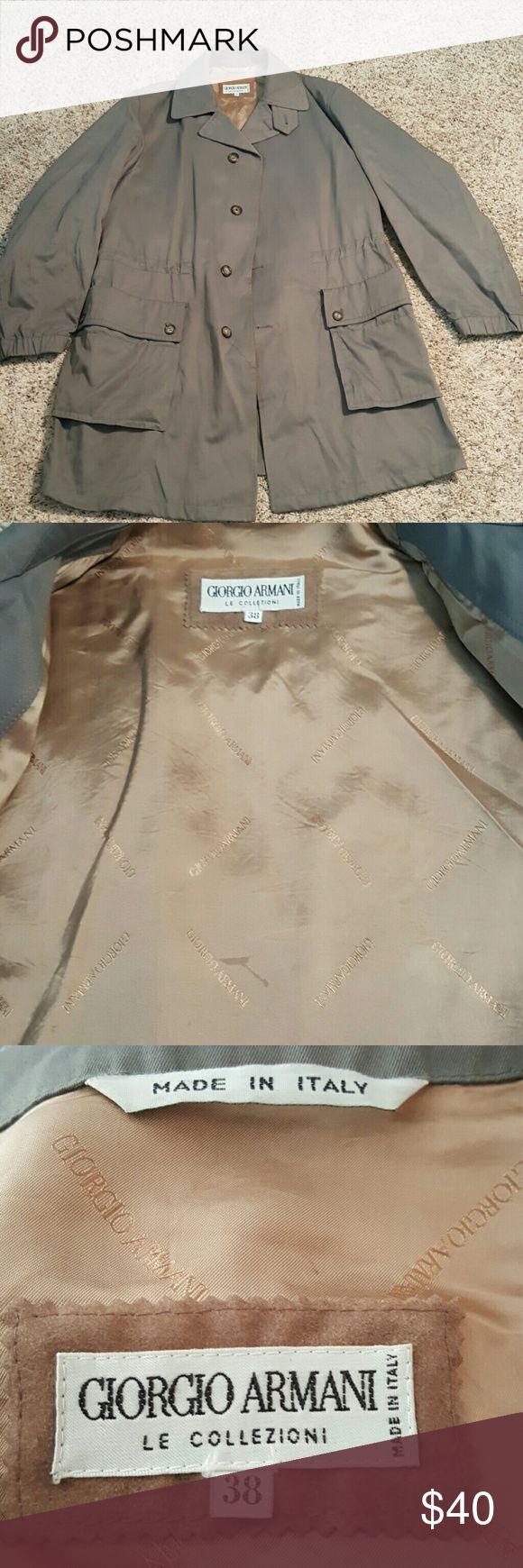 Giorgio Armani Jacket size 38 LE Collection made in ITALY Giorgio Armani Jackets & Coats Lightweight & Shirt Jackets