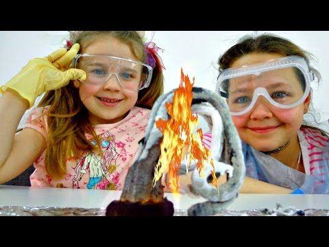 Интересное детям. Ксюша, Настя, Вова и ЗМЕЙ ГОРЫНЫЧ. Опыты для детей - YouTube