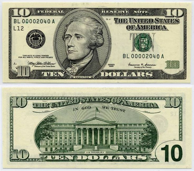 dollar | United States Dollar - Federal Reserve Note - Series 1999