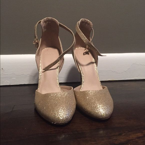 Asos gold sequined heels Brand new never worn sequined heels I bought for my wedding but