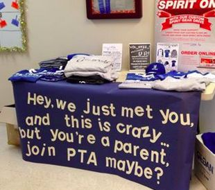 PTA table at our open house today