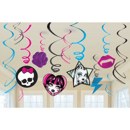 Amazon.com: Monster High Hanging Swirl Decorations Birthday Party Pack Supplies Girl: Toys & Games