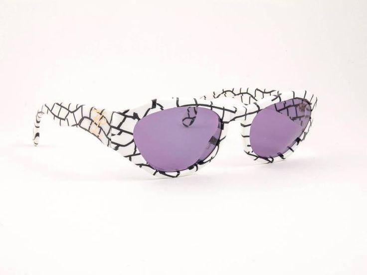 Vintage Karl Lagerfeld 3601 White & Black 1990 France Sunglasses