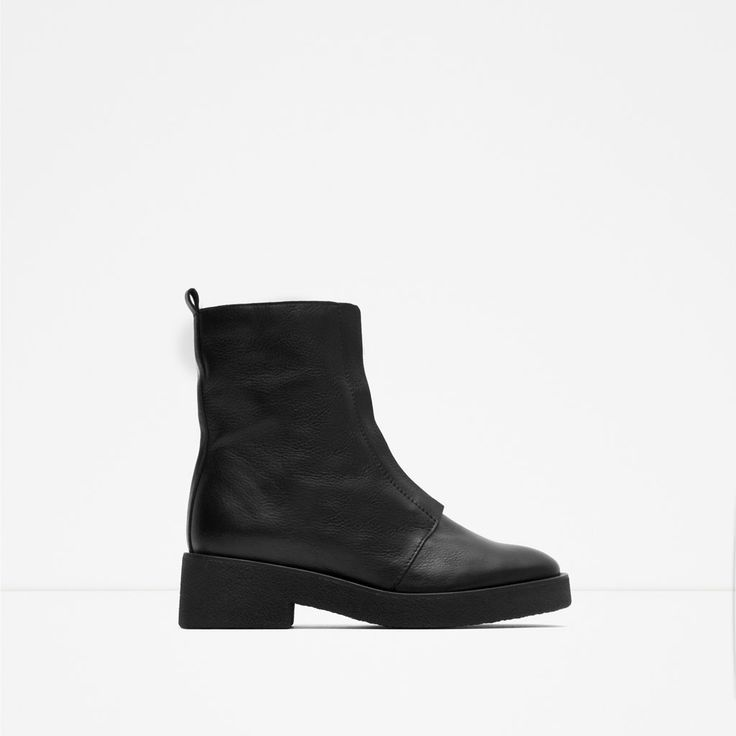 ZARA - TRF - ANKLE BOOTS WITH ZIP