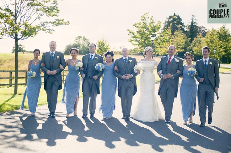 The bridal party in the sun. Weddings at Moyvalley Hotel and Golf Resort Photographed by Couple Photography.