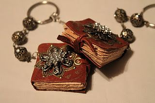 Mini Book Necklaces and Keychains Tutorial! This would be perfect as a gift for your favorite book lover. Clear and detailed tutorial with lots of pictures.