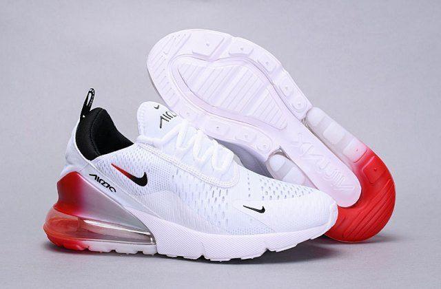 Nike Air Max 270 Flyknit White Red Black Ah8050 111 Trainer Men S Women S Running Shoe 111 270 Ah8050 Air Nike Air Max Nike Air Shoes Cheap Nike Air Max