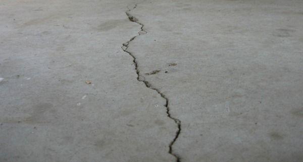 DIY fix garage floor cracks