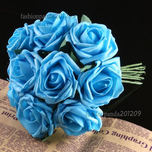 Bouquets Rose Bridal Latex Real Touch Flowers Wedding Bouquet DIY Charm