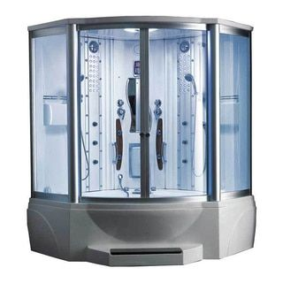 608 Steam Shower with Whirlpool Tub - Free Shipping Today - Overstock.com - 10819299 - Mobile