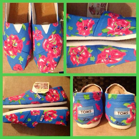 Lilly Pulitzer Lucky Charms Painted Toms by SweetHeartShoes