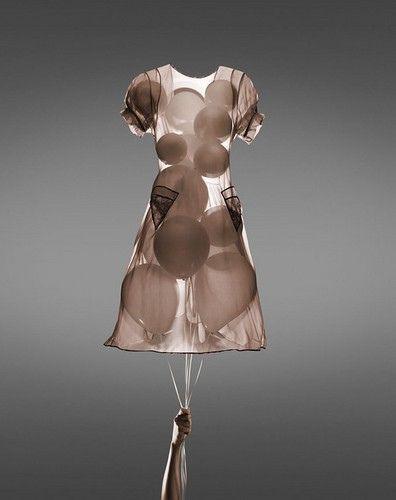 balloons em transparência #balloons #dress #transparent
