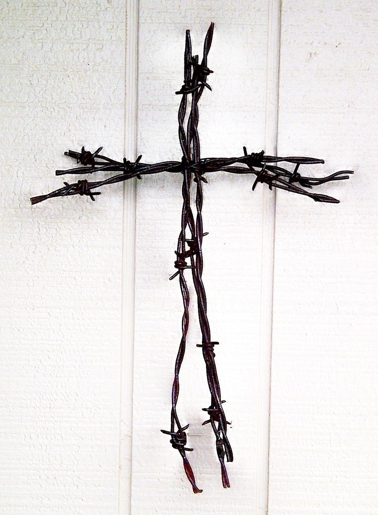 barbwire cross
