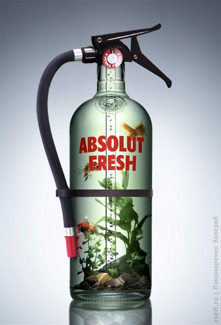 Absolut vodka fresh