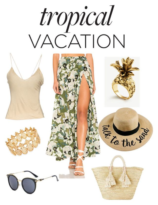 """""""Tropical Vacation"""" by esteadman-1 on Polyvore featuring Free People, Gucci, Giselle, INC International Concepts and Ann Taylor"""