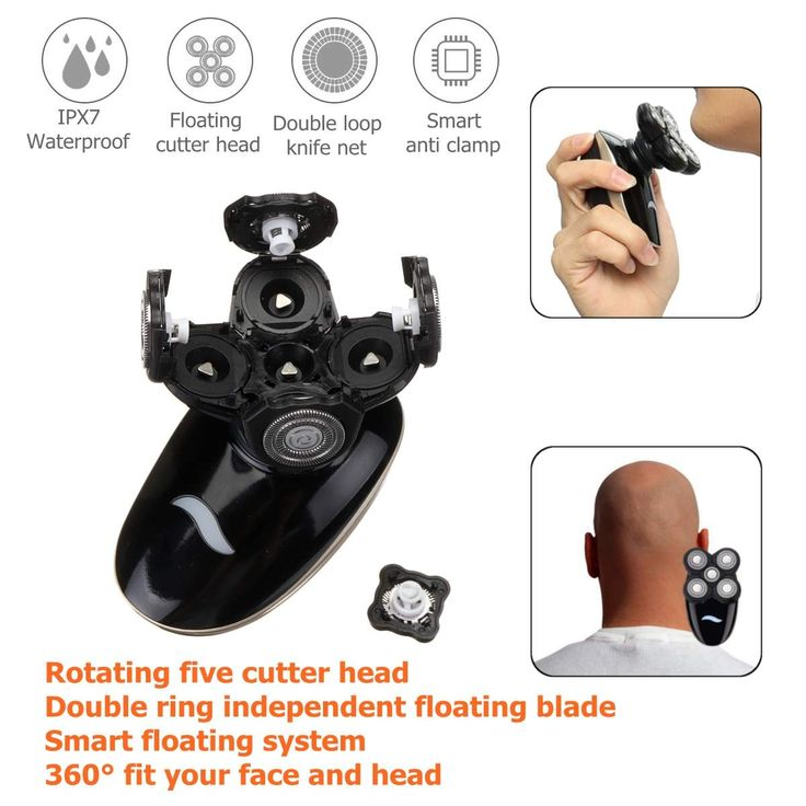 5 In 1 4D Rechargeable Bald Head Electric Shaver Wet&dry