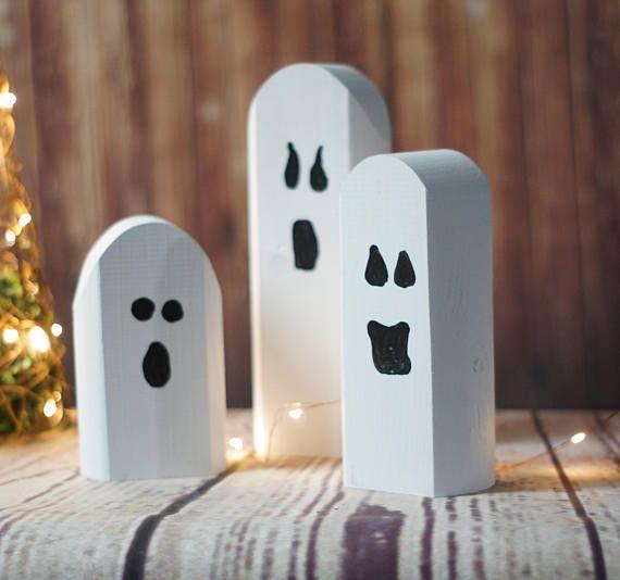 Reclaimed Wood Ghosts Rustic Halloween Decor Primitive