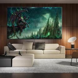 fantasy Art  Illidan Stormrage  World Of Warcraft Game American Style Frameless Spray Unframed Canvas Oil Painting kitchen