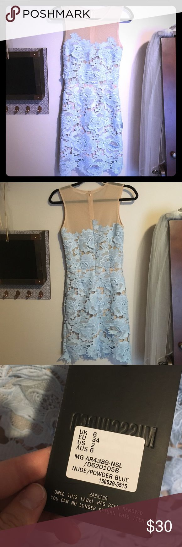 Misguided dress- Tiffany blue Beautiful dress! Perfect for bridal shower, baby shower or wedding! Misguided Dresses