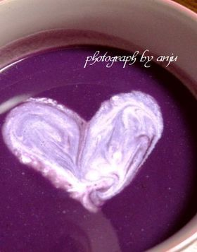 Soup of potato purple color of witch ☆