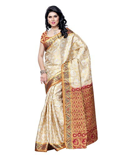 Mimosa Kanchipuram Art Silk Saree White (3054-132-HLFMARU) Check more at http://www.indian-shopping.in/product/mimosa-kanchipuram-art-silk-saree-white-3054-132-hlfmaru/