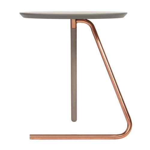 Less Than Three Grey and Copper Side Table