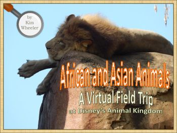 African Animals- Take a virtual field trip to Disney's Animal Kingdom to explore some very familiar and exotic animals. This unit on African and Asian animals includes a fruit bat, gorilla, giraffe, elephant, tiger, lion, hippopotamus, and more. Students will learn about the animals weight, what they eat, how many teeth they have, and other fun facts.