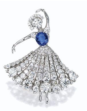 Sapphire and Diamond Ballerina Brooch, Van Cleef & Arpels, 1951