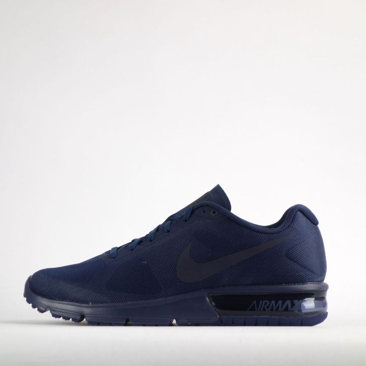 Nike Air Max Sequent Mens Running Trainers Shoes Sneakers Triple Midnight Navy #Nike #RunningTrainersShoes