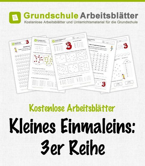 Kostenlose Arbeitsblätter und Unterrichtsmaterial zum Thema Kleines Einmaleins: 3er-Reihe im Mathe-Unterricht in der Grundschule.