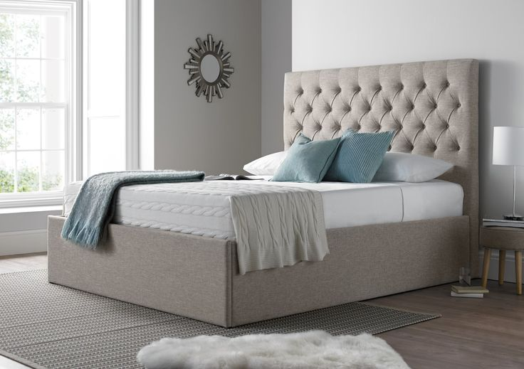 The maxi combines practicality with style and versatility.  What sets this bed a part  from the crowd is it's generous proportions.  The luxurious deep buttoned headboard stands 135cm tall and will make an impressive style statement in any bedroom.  The extra deep base means that this Ottoman bed offers considerably more storage than your average Ottoman bed.  The slatted Ottoman base can be easily raised and lowered with the assistance of the gas lift system which is similar to the metho...