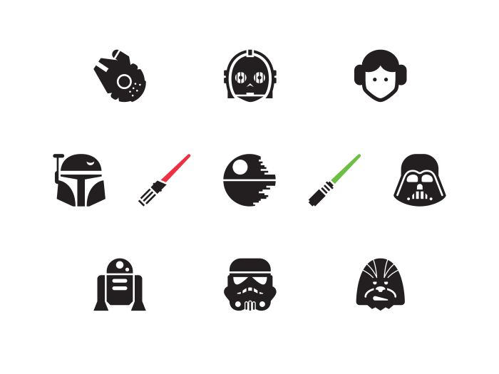 Star Wars themeed icon set