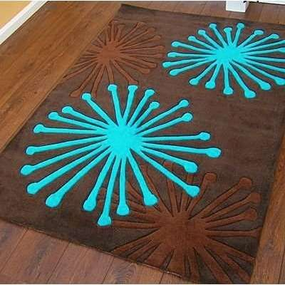 Brown And Teal Bathroom Rugs