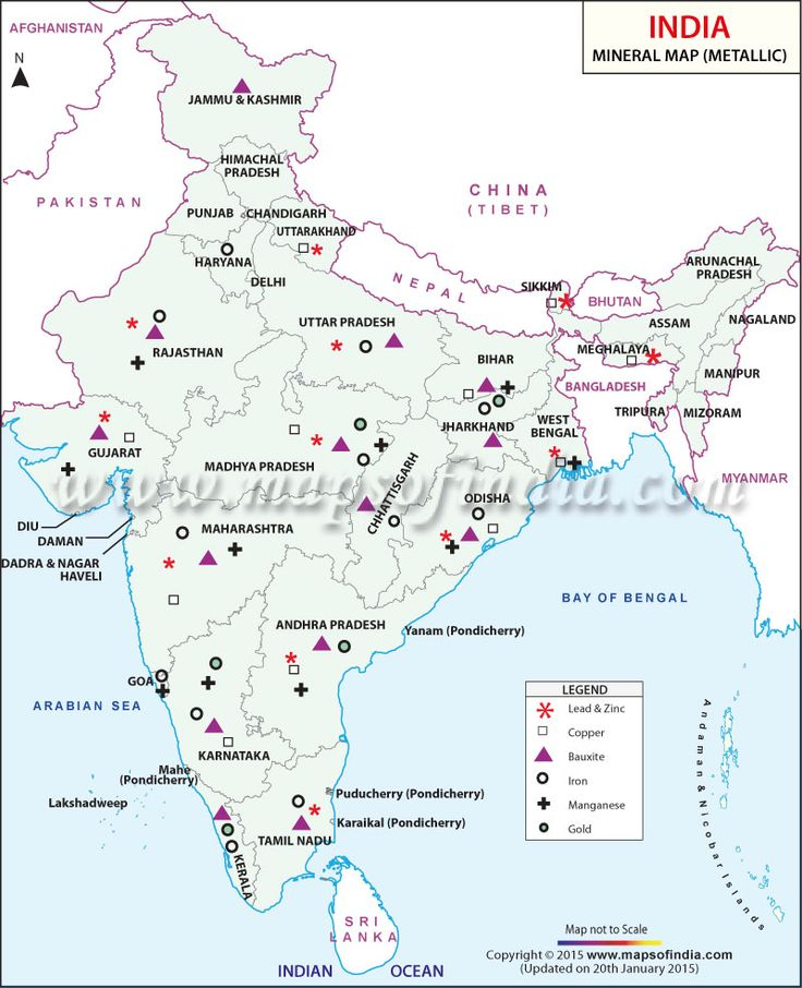 Metallic Minerals Map Of India India Thematic Maps