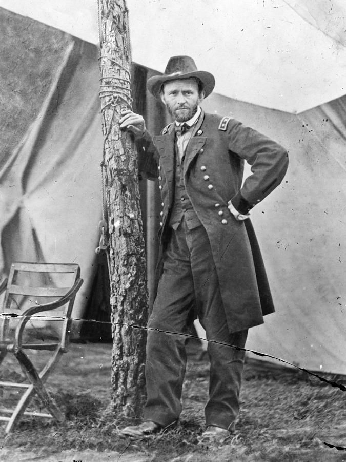 I need to strike this casual pose more often. Clearly a chill bro.   The Civil War. Ulysses S. Grant. 1864