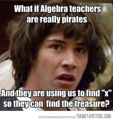 Math teacher pirates