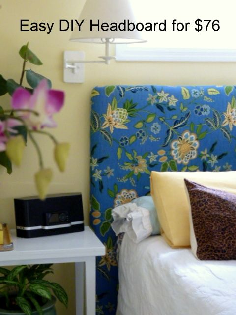 How to Make a Padded Headboard to Stage Your Bedroom - DIY Home Staging Tips by Pink Overalls