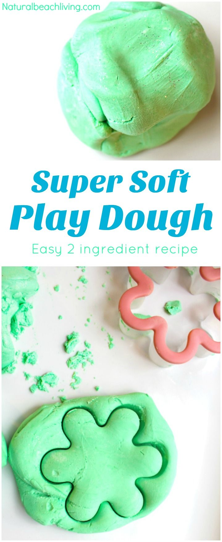 The Easiest and softest 2 ingredient PLAY DOUGH RECIPE Apple Scented Play Dough Recipe:      1 cup Cornstarch     4 oz. Apple scented conditioner