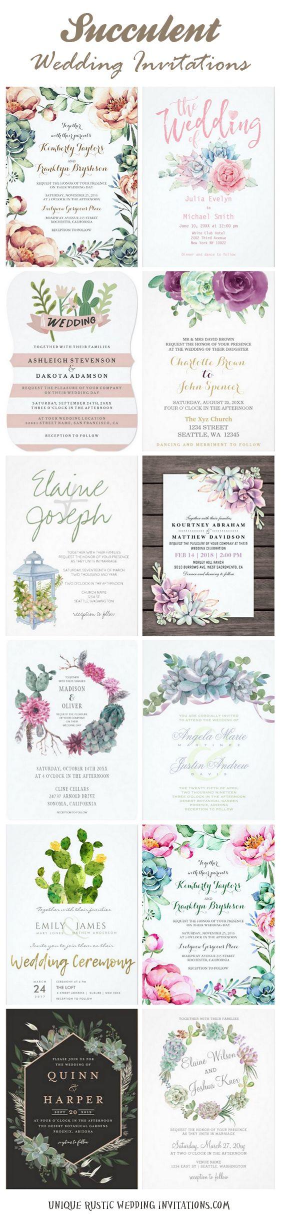 20+ Succulent wedding invitations #rusticwedding