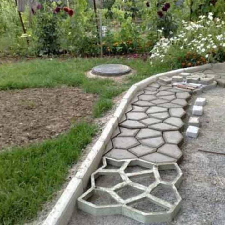 Gowritter Com Pick Up Of Creative And Interesting Garden Path Design Ideas Provides The Best Inspirat Garden Paving Backyard Landscaping Designs Concrete Path